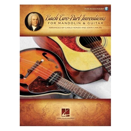 Bach Two-Part Inventions for Mandolin & Guitar Bk/Online Audio