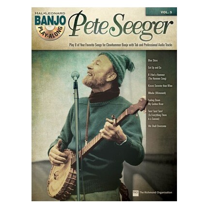 Pete Seeger Banjo Play-Along Vol 5 Bk/CD