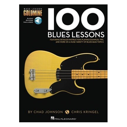 100 Blues Lessons Bass Guitar Bk/Online Audio