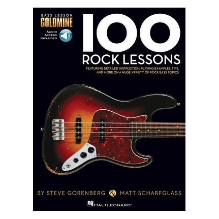 100 Rock Lessons Bk/Online Audio