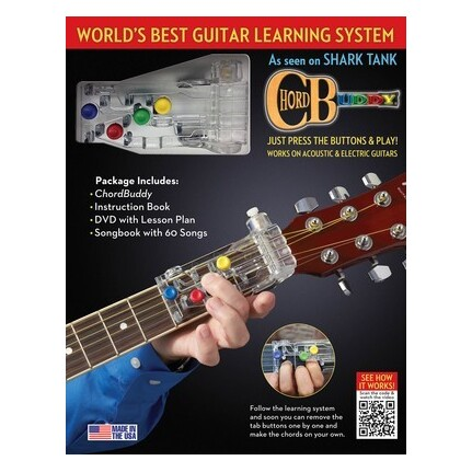 Chordbuddy Guitar Learning System w/Book/DVD Revised Edition