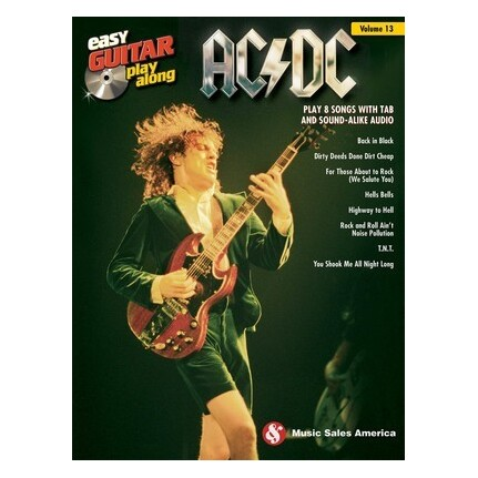AC/DC Easy Guitar Play-Along Vol 13 Bk/Online Audio