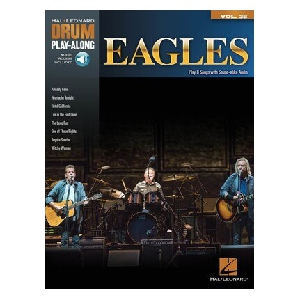 Eagles Drum Play-Along Vol 38 Bk/Online Audio