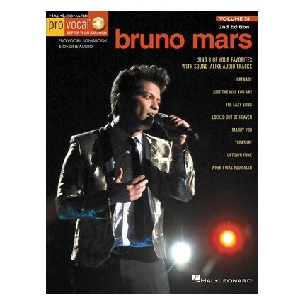 Bruno Mars Pro Vocal Men Vol 58 2nd Edition Bk/Online Audio