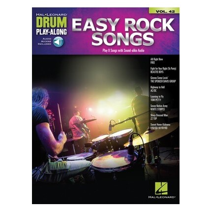 Easy Rock Songs Drum Playalong V42 Bk/Online Audio