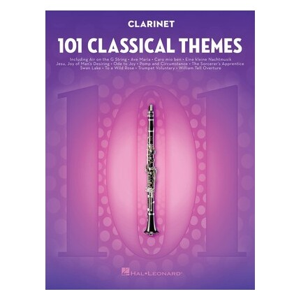 101 Classical Themes For Clarinet