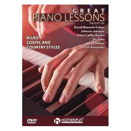 Great Piano Lessons Blues Gospel Country DVD