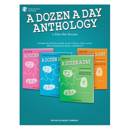 A Dozen A Day Anthology Bk/Online Audio