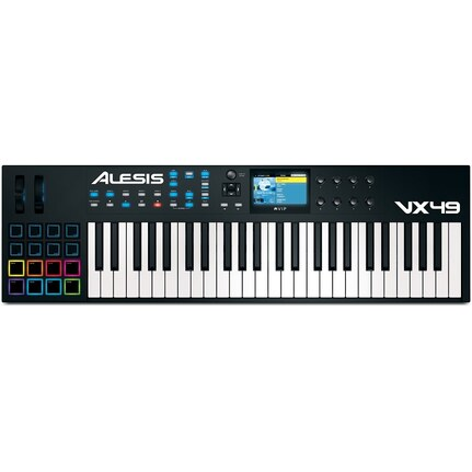 Alesis VX49 49-Key USB-MIDI Keyboard & Pad Controller w/Screen