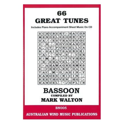 66 Great Tunes Bassoon Bk/CD