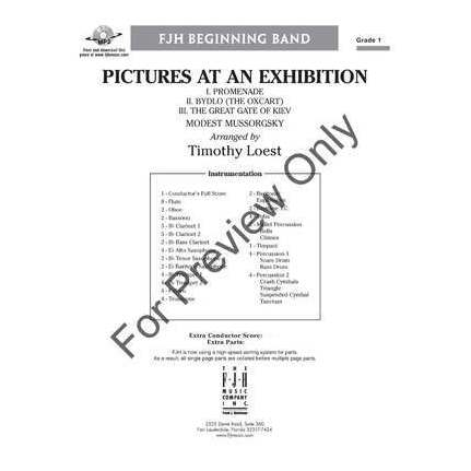 Pictures At An Exhibition Arr Loest Cb1 Score/Parts