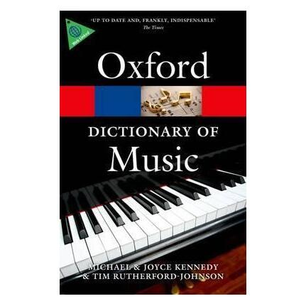Oxford Dictionary Of Music 6th Edition Paperback