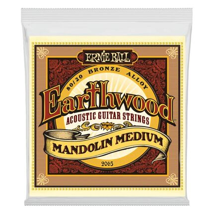 Ernie Ball 2065 Earthwood Mandolin Medium Loop End 80/20 Bronze Acoustic Guitar Strings 10-36 Gauge