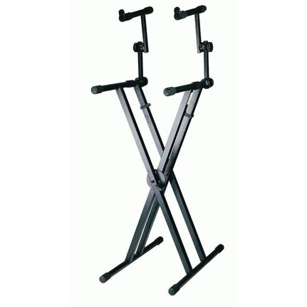 Armour KSD98D Two-Tiered Double-Braced Keyboard Stand