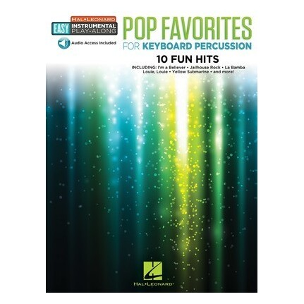 Pop Favorites For Keyboard Percussion Bk/Online Audio