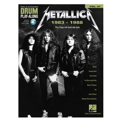 Metallica 1983-1988 Drum Play-Along Vol 47 Bk/Online Audio