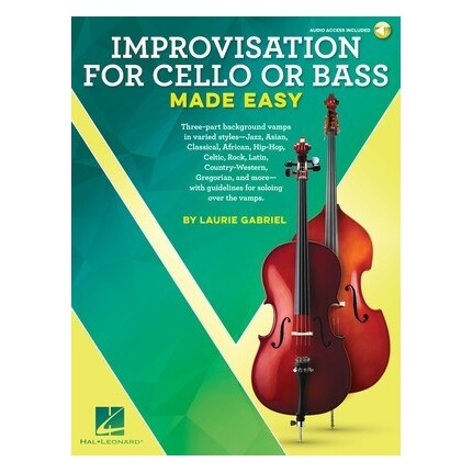 Improvisation For Cello Or Bass Made Easy Bk/Online Audio