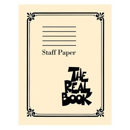 The Real Book Staff Paper 9 Stave 400 pp Perforated