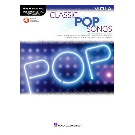 Classic Pop Songs For Viola Bk/Online Audio