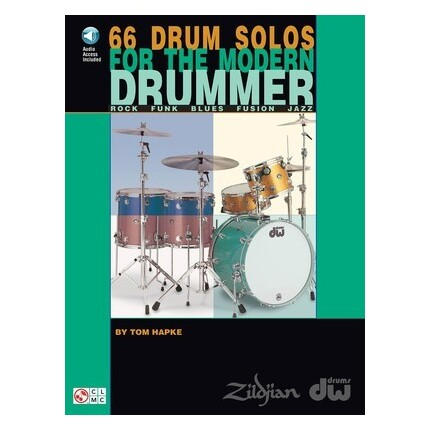 66 Drum Solos For The Modern Drummer Bk/CD