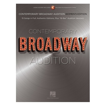 Contemporary Broadway Audition Women Bk/Online Audio
