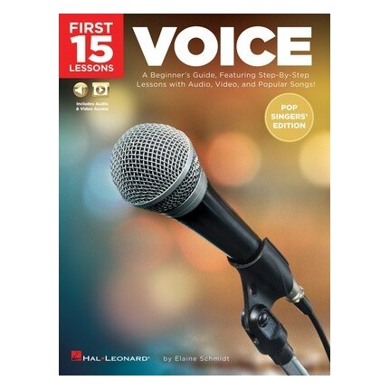 First 15 Lessons Voice Pop Singers' Edition Bk/Online Media