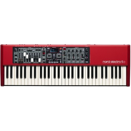 Nord Electro 5D 61-Key Semi-Weighted Waterfall Stage Keyboard Red Finish
