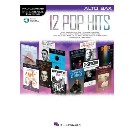 12 Pop Hits Alto Saxophone Bk/Online Audio