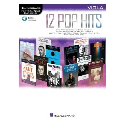 12 Pop Hits Viola Bk/Online Audio