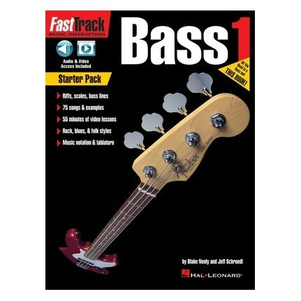 FastTrack Bass Guitar Starter Pack Bk/Online Media