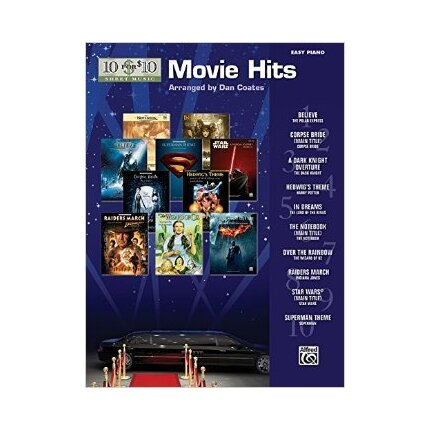 10 For 10 Sheet Music Movie Hits for Easy Piano