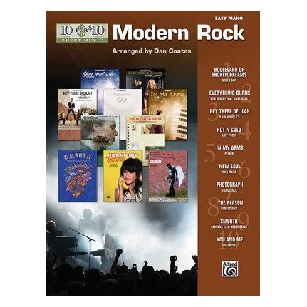 10 For 10 Sheet Music Modern Rock for Easy Piano