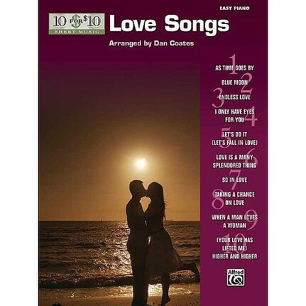 10 For 10 Sheet Music Love Songs for Easy Piano