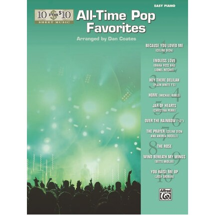 10 For 10 Sheet Music All Time Pop Favourites for Easy Piano