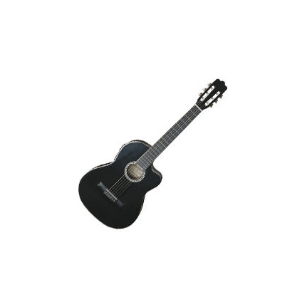 Ashton Cg44Ceqbk Classical Guitar Acoustic / Electric With Pickup Black