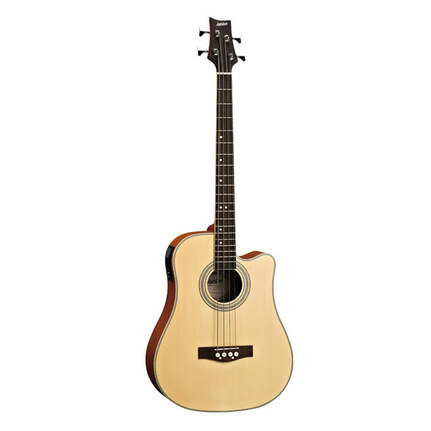Ashton Acb100Ceqntm Acoustic-Electric Bass Guitar Natural Mat