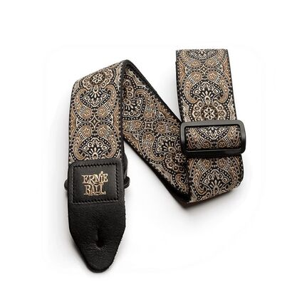 Ernie Ball 4163 Gold and Black Paisley Jacquard Guitar Strap