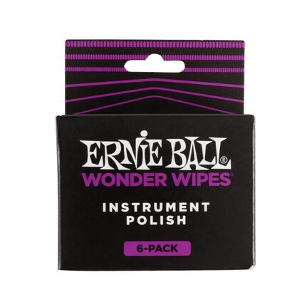 Ernie Ball 4278 Wonder Wipes Instrument Polish 6 Pack
