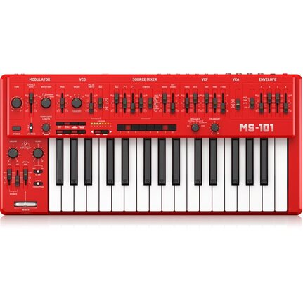 Behringer MS-101-RD 32-Key Analog Synthesizer Red