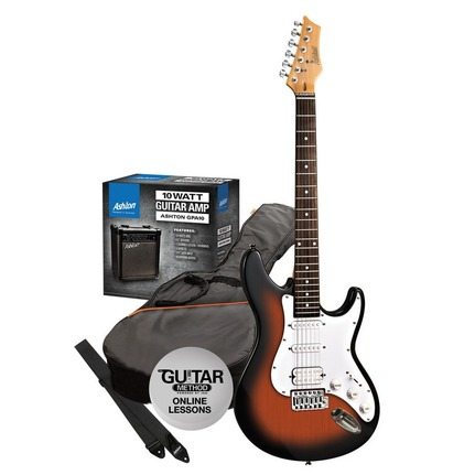 Ashton SPAG232TSB Electric Guitar Starter Pack Tobacco Sunburst