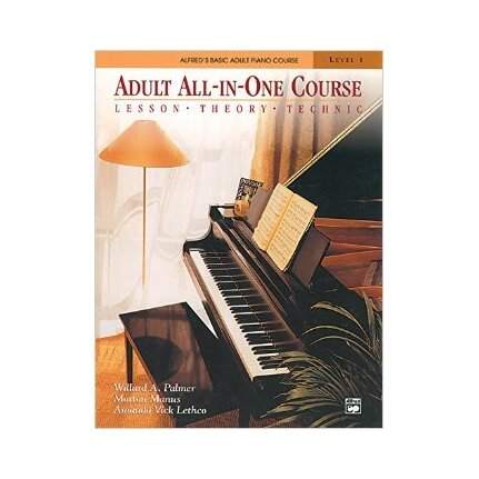 Alfred's Basic Adult Piano All-in-One Course Level 1 BK