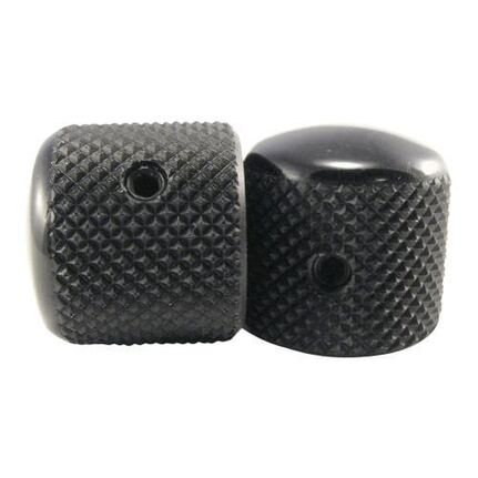 Ernie Ball 6355 Telecaster Knobs Black Aluminum Set of 2