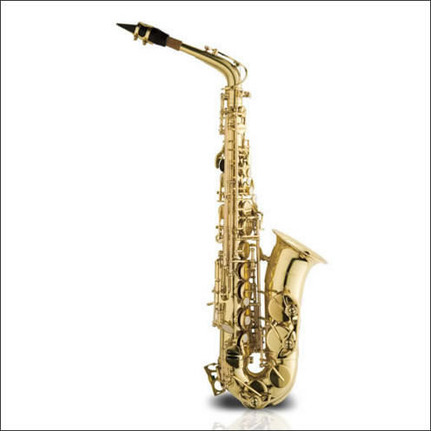 Ashton SX10 Alto Saxophone Student Model Gold Lacquer Finish In Case