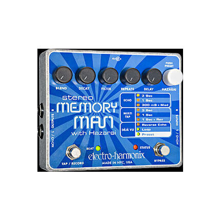 Electro Harmonix Stereo Memory Man With Hazerai Fx Effects Pedal