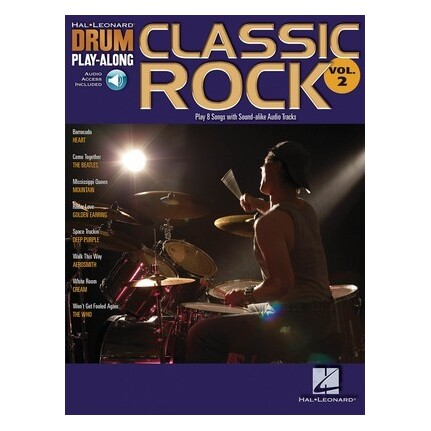 Classic Rock Drum Play Along Bk/CD Vol2