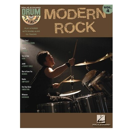 Modern Rock Drum Play Along Bk/CD Vol4
