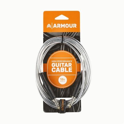 Armour GC10S 10ft Guitar Cable Transparent Silver