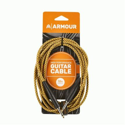 Armour GW10G 10ft Guitar Cable Woven Gold