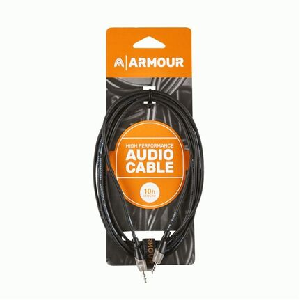 "Armour SC88S 1/8"" to 1/8"" Stereo Cable 10ft"