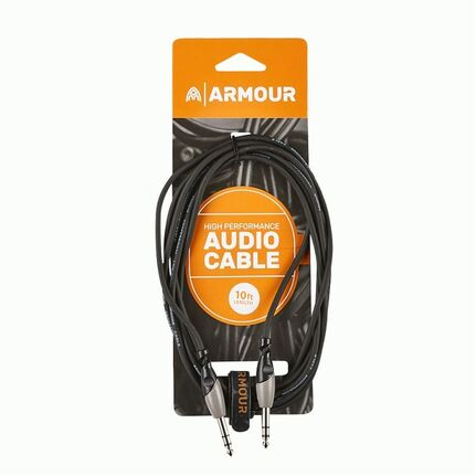 "Armour SC44S 1/4"" to 1/4"" Stereo Cable 10ft"